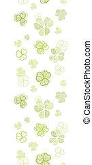 clover textile textured line art vertical seamless pattern...