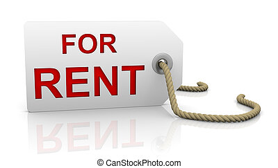 For rent tag in left position