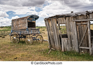 Old Time Cowboy Sheriff's Wagon - An old west sheriff's...