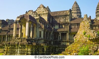 Details of Angkor Wat temple Cambodia - Video 1080p -...