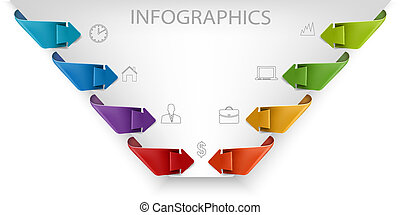 Business infographics template Vector