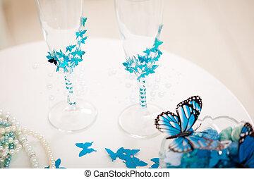 Wedding accessories, stemware