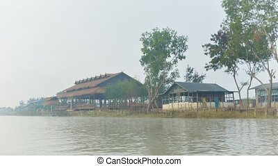 Morning boat trip to Inle Lake. Myanmar
