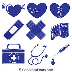 Medical supplies - Illustration of the medical supplies on a...