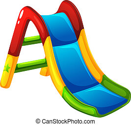 Vector Clipart of A colourful slide at the park - Illustration of ...