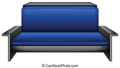 An elegant blue sofa