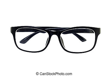 Eye glasses, Black eye glasses isolated on white background