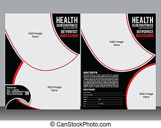 gym designer flyer template vector illustration