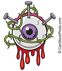 Eyeball - Vector illustration of Eyeball