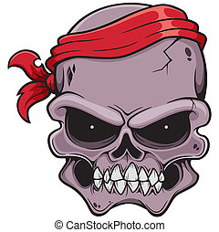 Skull - Vector illustration of Skull pirate