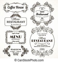 Floral restaurant frames - Decorative floral romantic...