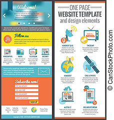 Web site template - One page web site template for mass...