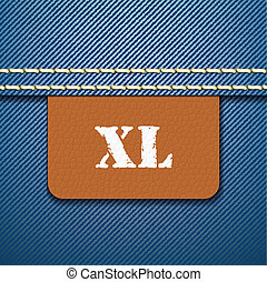 XL size clothing label