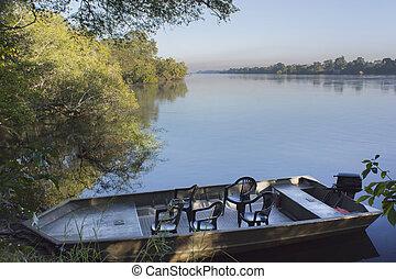 Zambezi river - the coast of the river Zambezi