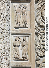 Relief Pisa Baptistry - a relief of the Pisa Baptistry...