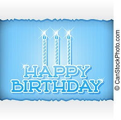 Happy Bithday - Happy Birthday Greeting Card - Paper Letters...