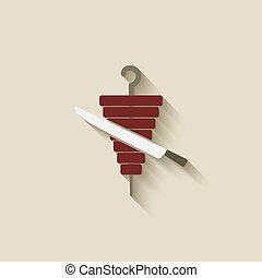 doner kebab design element - vector illustration. eps 10