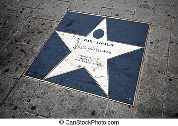 Richard Strauss walk of fame star in Vienna, Austria