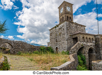 Clock tower of castle