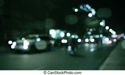 Abstract blurred view of the traffic in an Asian city