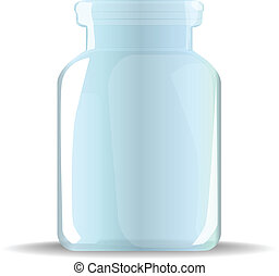 glass jar - isolated glass jar on a white background