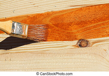 Painting bare wood