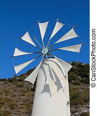 Tradition windmill in Crete, Greece