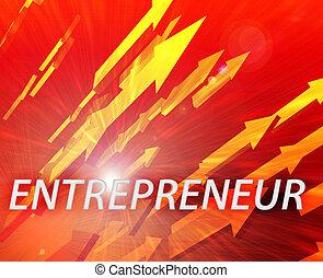 Entrepreneur management success - Entrepreneur illustration,...