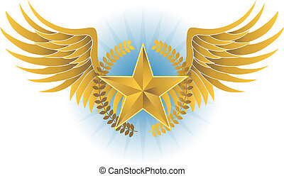 Wreathed Star Crest