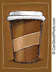 Coffee to go - This Vector Image was digital painted on...