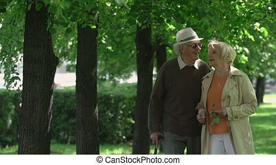 Never Too Late to Love - Elderly couple in love approaching...