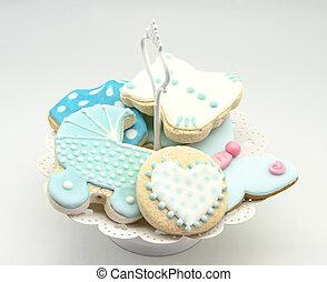 manteiga, biscoitos