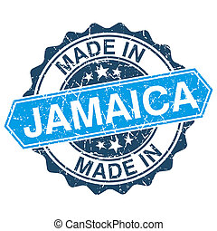 made in Jamaica vintage stamp isolated on white background