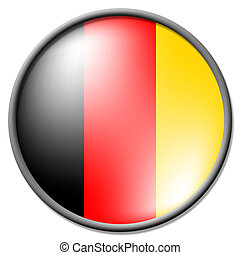 German Badge Indicates National Flag And Badges - German...
