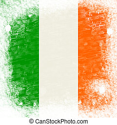 Ireland Flag Means Blank Space And Copyspace - Ireland Flag...