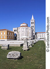 Church of St Donat - Forum with Church of St Donat in Zadar,...