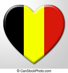 Heart Belgium Shows Valentines Day And Affection