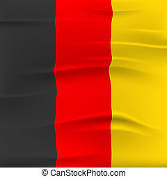Germany Flag Represents Nationality Euro And Country -...