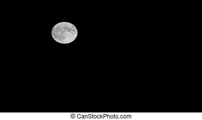 Full Moon - Full moon traveling on night sky