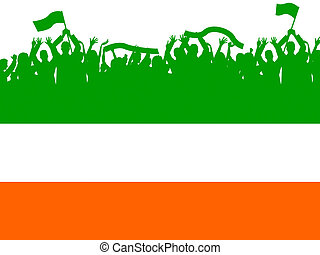 Copyspace Flag Means Nationality Patriotism And Ireland -...