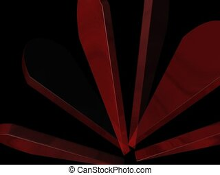 Abstract flower - Abstract red flower Dancing flower petals...