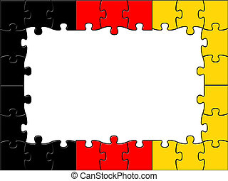 Germany Jigsaw Shows Text Space And Copy - Germany Jigsaw...