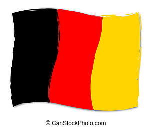 German Flag Indicates Germany Deutch And Germanic - German...