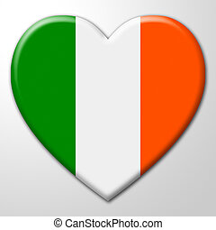Heart Ireland Shows Valentines Day And Affection