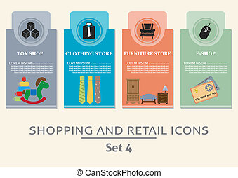 Shopping and retail labels Set for you design