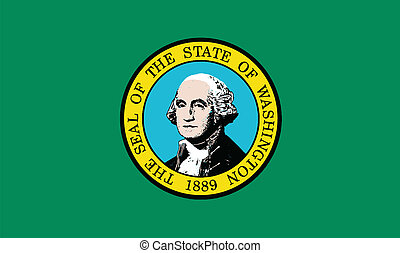 Flag of Washington State - The flag of the state of...