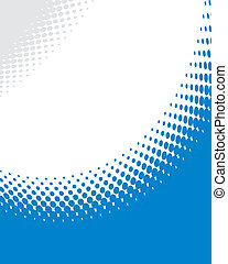 Abstract blue halftone background vector.