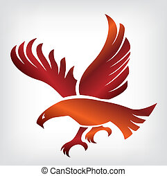 Eagle illustration - Eagle symbol, emblem design, attacking...