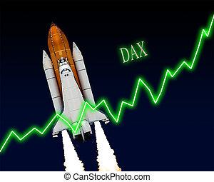 DAX Index Chart - DAX index chart up Frankfurt stock...