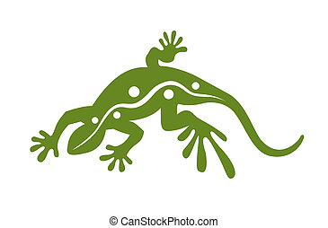vector cartoon lizard isolated on withe background